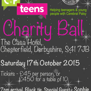 The Big Announcement! ... The FIRST CP Teens UK Charity Ball!
