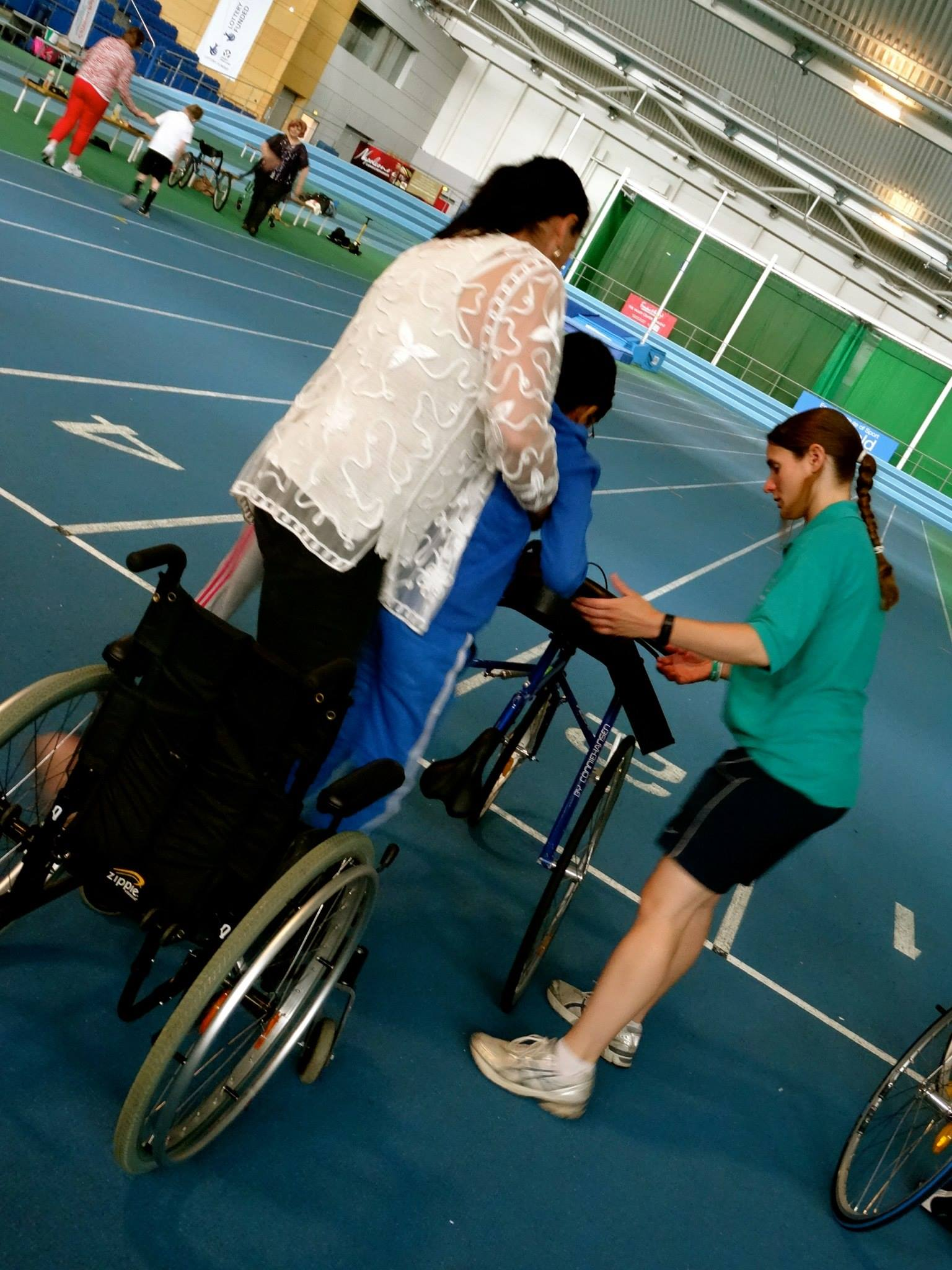 From my wheelchair ... to the track!