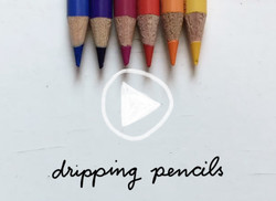 Colorful dripping pens