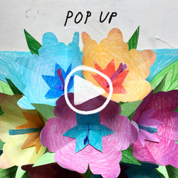 Postcard with pop-up paperflowers