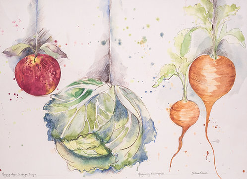 Cabbage, apple, turnips