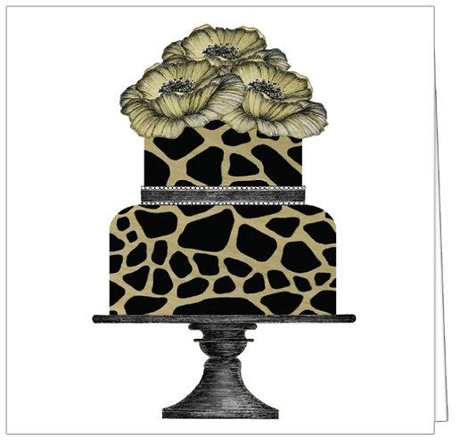 GGE179 - LEOPARD FLOWER CAKE
