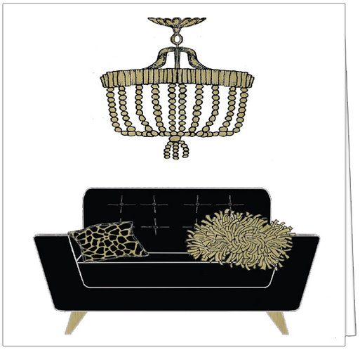 CHIC CHAIR AND CHANDELIER