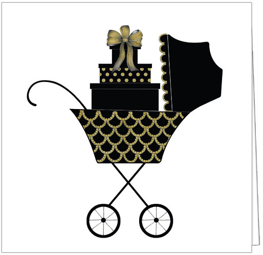 GGE87 - SWANKY STROLLER WITH PATTERNED PRESENTS