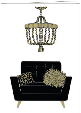 AO574 - CHIC CHAIR & CHANDELIER