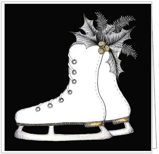 GGE131 - SWANKY HOLIDAY SKATE -WHITE