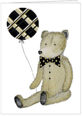 AO429 -  BALLOON TEDDY BEAR
