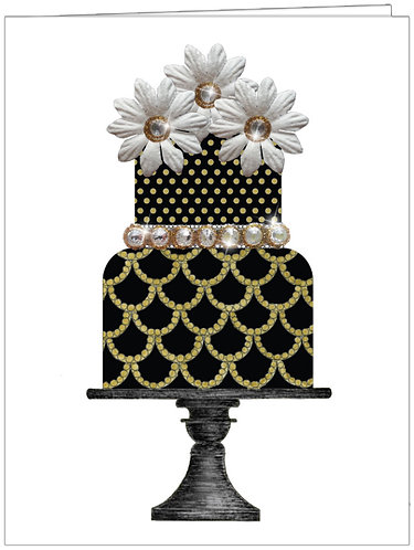 CCC147 - BLACK & GOLD TIERED CAKE