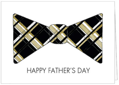 FATHER'S DAY PLAID BOW TIE