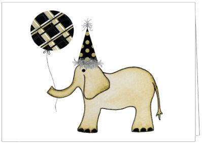 AO487 - ELEPHANT WITH BALLOON