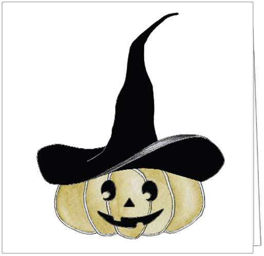 GGE101 - JACK-O-LANTERN WITH WITCH HAT