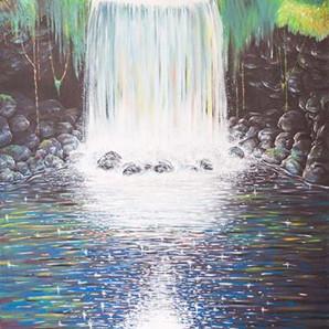 the waterfall wall