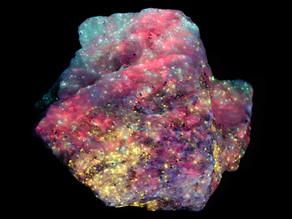 Chondrodite, Calcite, Diopside, Aragonite - Long Lake Zinc Mine, Ontario, Canada
