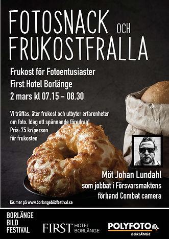 affisch Fotosnack och frukostfralla_mars