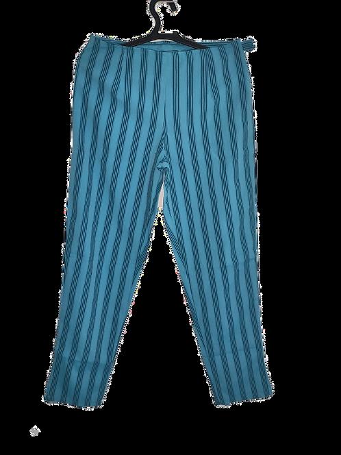 Calça Listrada azul