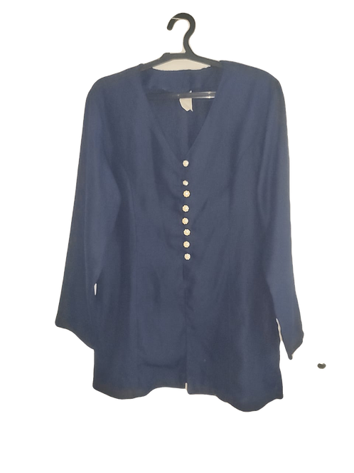 Blusa Azul De botões feminino