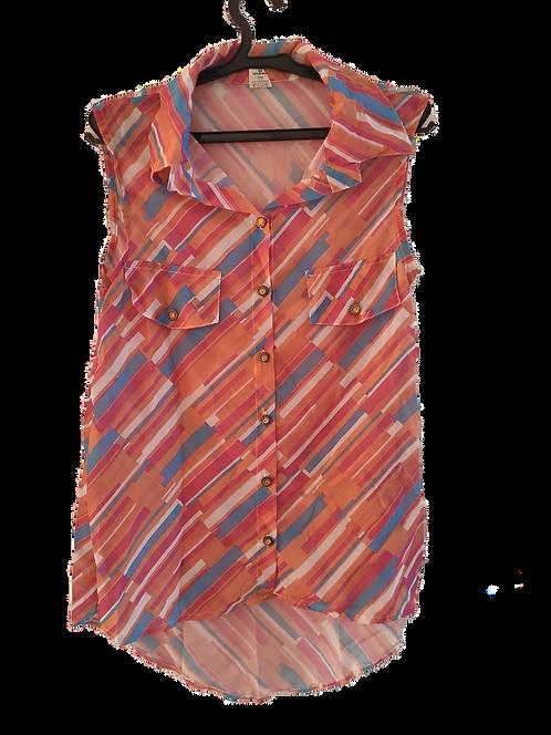 Blusa Rosa listrada