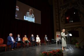 Didier Decoin, Françoise Chandernagor, Tahar Ben Jelloun, Eric-Emmanuel Schmitt et Pierre Assouline au Livre sur la Place à Nancy, 2021
