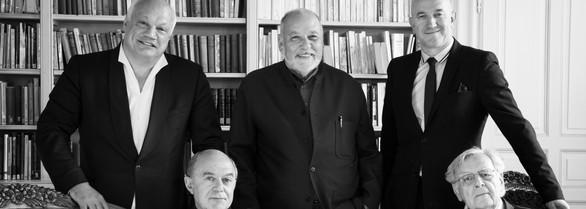 ©RebeccaBowring5777  Cinq Académiciens en mai 2018 à Genève pour célébrer les 200 ans de la prestigieuse Société de Lecture qu'anime Delphine de Candolle.