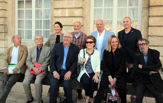 Les 10 académiciens Goncourt, septembre 2018 (photo VdN)