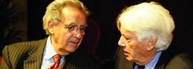 Échange entre 2 amis : Bernard Pivot et Jorge Semprún (2006, photo VdN)