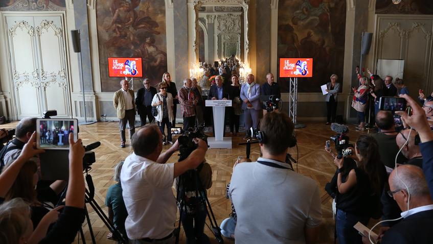 Vendredi 7 septembre : annonce de la 1ère sélection pour le prix Goncourt, Nancy. (Photo VdN)