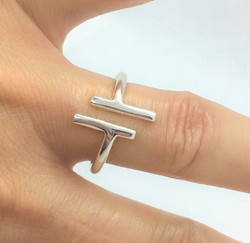 Stylish Silver Ring - 925 Sterling Silve