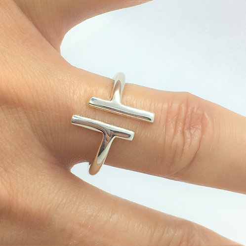Stylish Silver Ring - 925 Sterling Silver - Bespoke Ring - Made to your size.