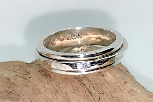 Spinner Ring - 925 Solid Sterling Silver Ring - Bespoke - Engraved Ring.