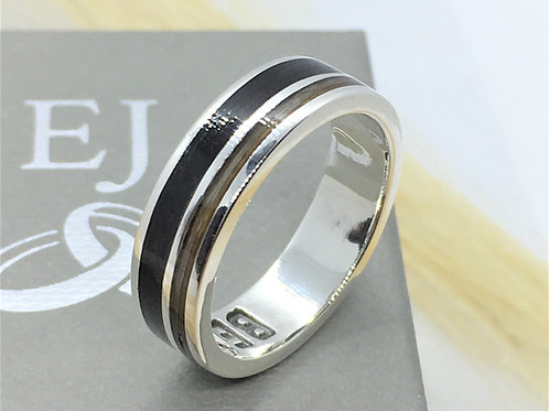 Horse Hair Ring - 925 Solid Sterling Silver - Bespoke Ring - Made to your size -