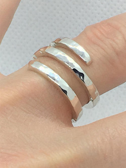 925 Solid Sterling Silver Square Double