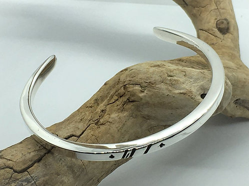 Chunky Gents Sterling Silver Signature Cuff.