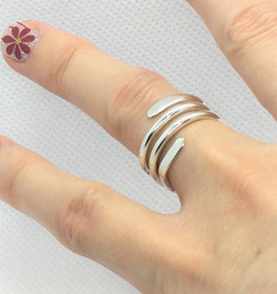 Ferrara Tripple 925 Sterling Silver Ring
