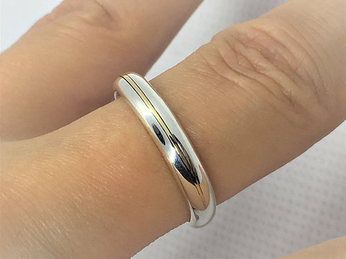 9Ct Gold and 925 Solid Sterling Silver - Bespoke Ring - Petite Ring.