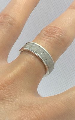 Silver Pearl Ring - Crushed Freshwater P