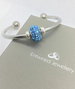Luxury Verona Cuff Bracelet with Sparkli