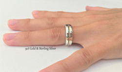 9ct Gold and 925 Sterling Silver Anniver