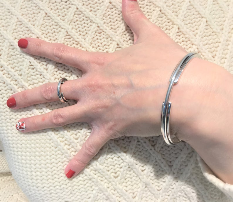 Entwined Galaxy Ring - 925 Solid Sterlin