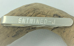 Engraved Tie Slide - 925 Solid Sterling