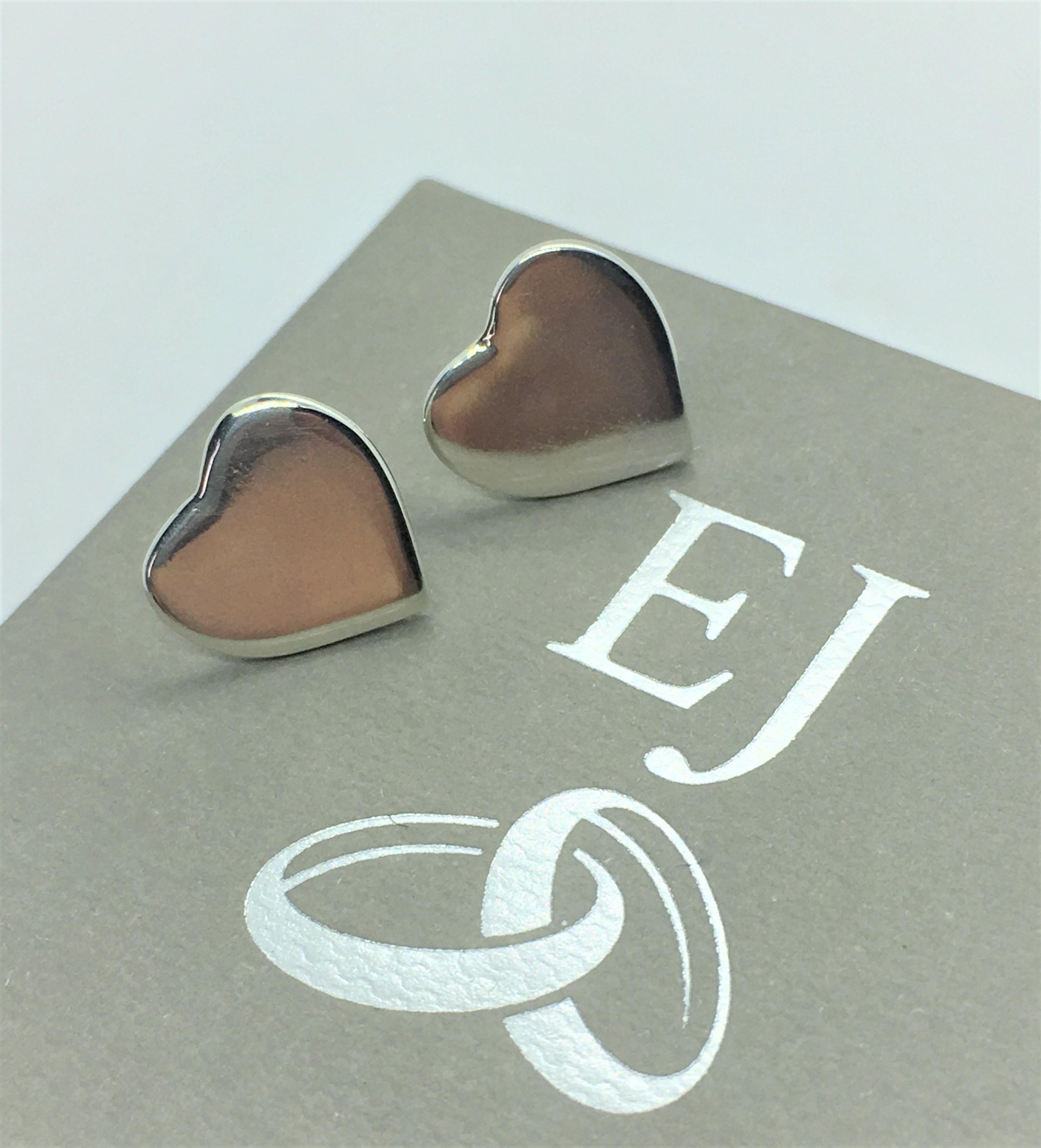 Silver Heart Earrings - 925 Sterling Sil