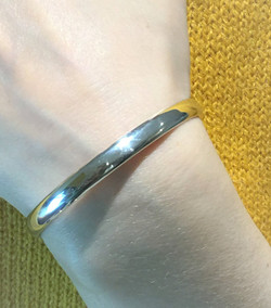Classic Half Rounded Solid 925 Sterling