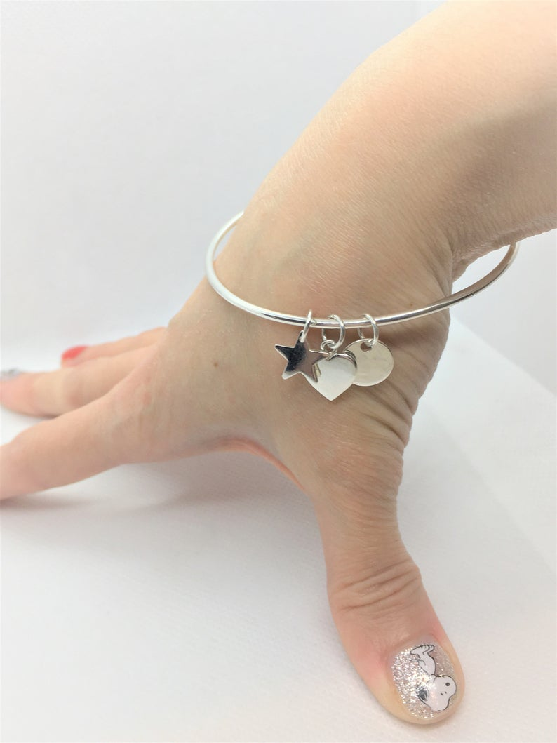 Sterling Silver Tag Bangle 4