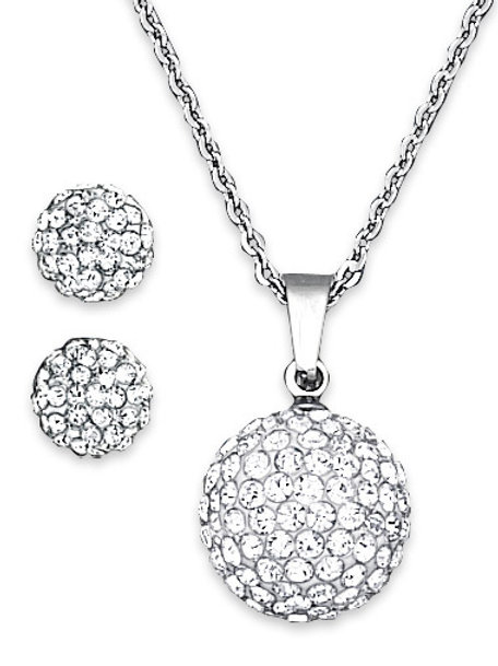 Brilliant CZ Necklace and Earring Set