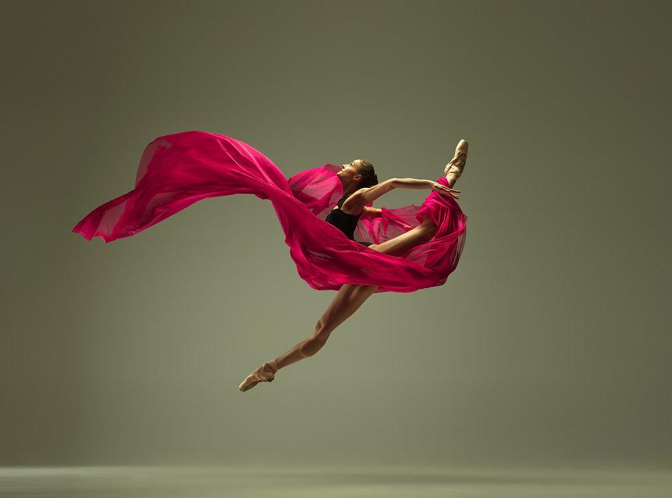 Graceful ballet dancer or classic baller