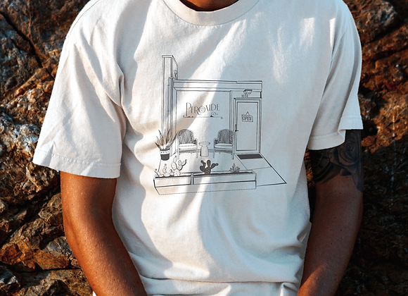 """The front of the shop"" tee"