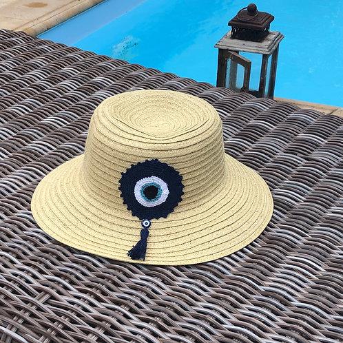Καπέλο Knitted eye beige