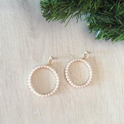 Σκουλαρίκια κύκλοι με πέρλες