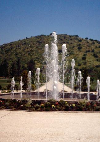 Fuente de agua, Cementerio Parque.