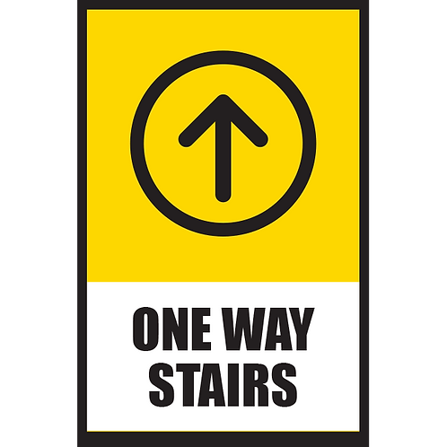 Series 5: One Way Stairs (Up Arrow) - Poster/Sign