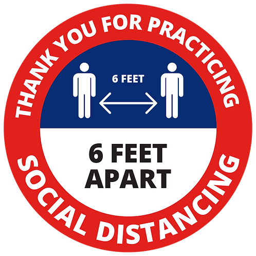 Series 1: Thank You for Practicing Social Distancing - Floor Graphic-Circle 17""